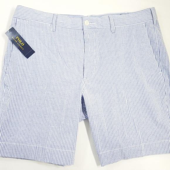 ralph lauren navy stripe dress pink polo shorts